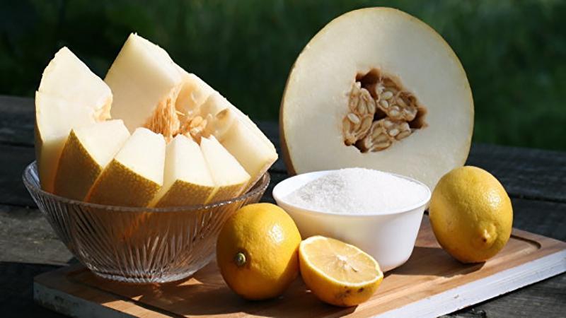 дыня с лимоном