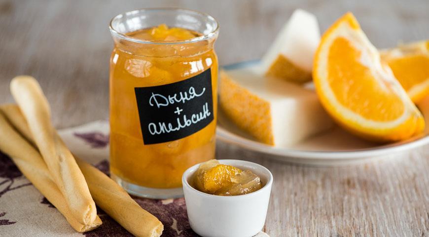 дыня и апельсин