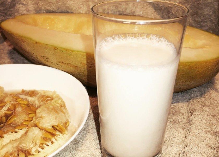дыня с молоком